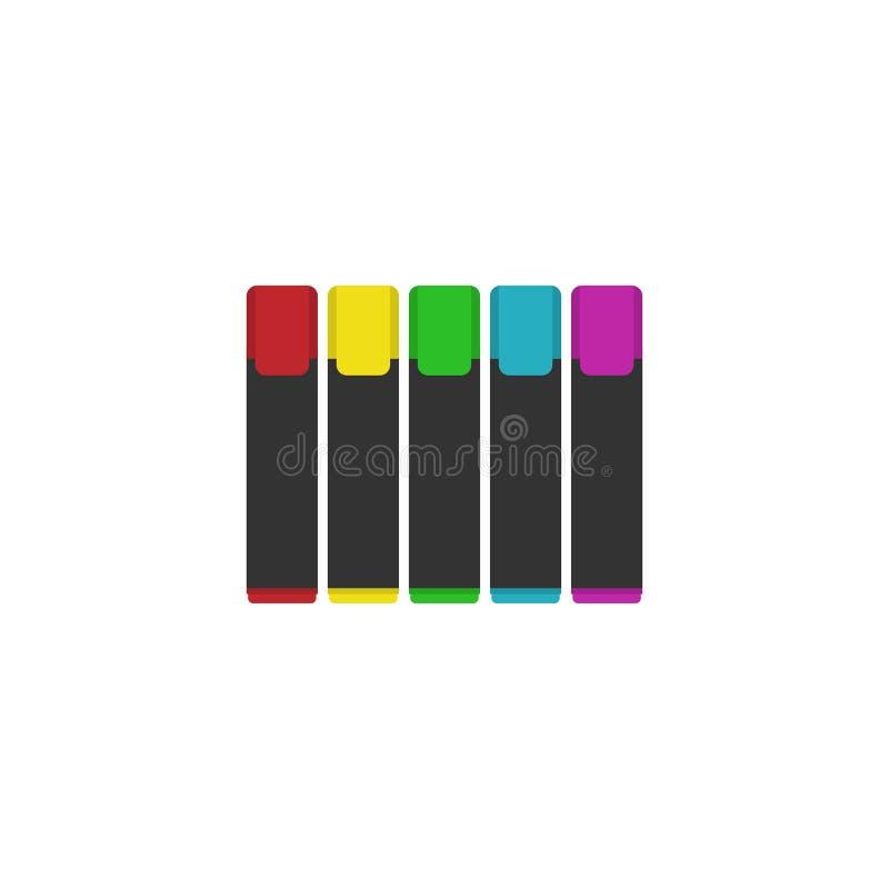 Иллюстрация вектора красочных отметок установленная Реалистические отметки установленные для дизайна Белая предпосылка также вект иллюстрация штока