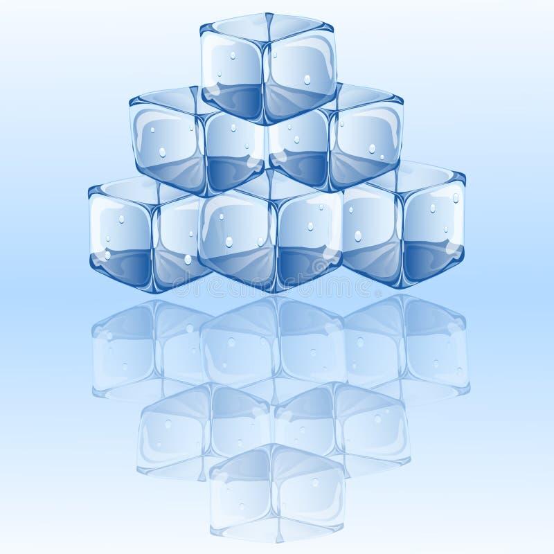 Иллюстрация вектора кубов льда иллюстрация штока