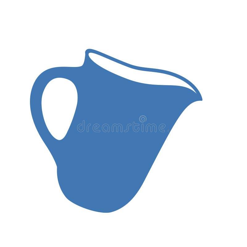 Иллюстрация вектора кувшина или кувшина молока Значок кувшина или опарника бесплатная иллюстрация