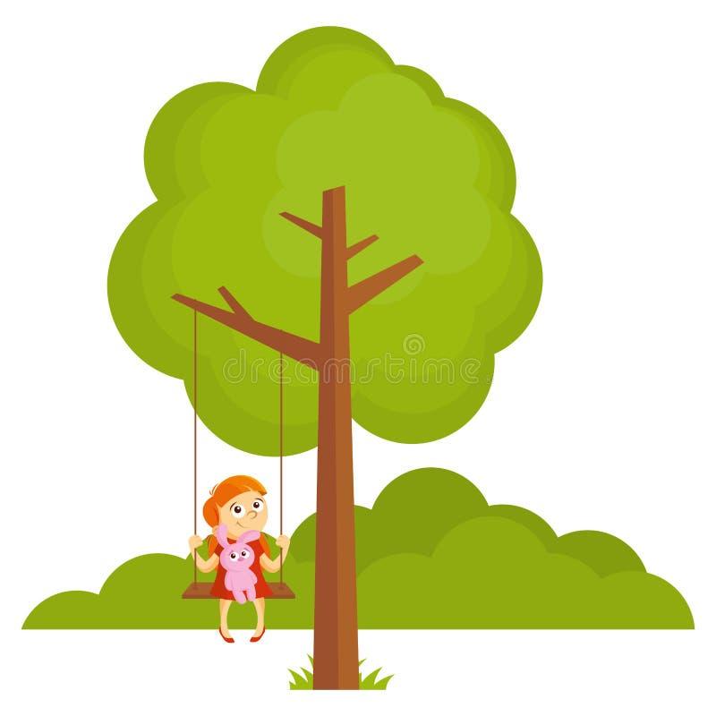 Иллюстрация вектора леса ландшафта дерева бесплатная иллюстрация