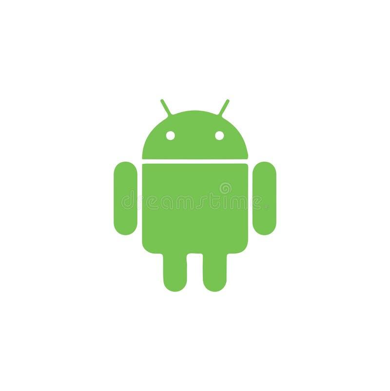 Иллюстрация вектора логотипа андроида на белой предпосылке бесплатная иллюстрация