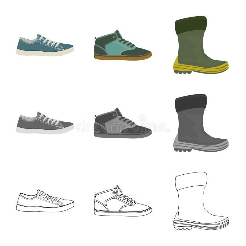 Иллюстрация вектора логотипа ботинка и обуви r иллюстрация вектора