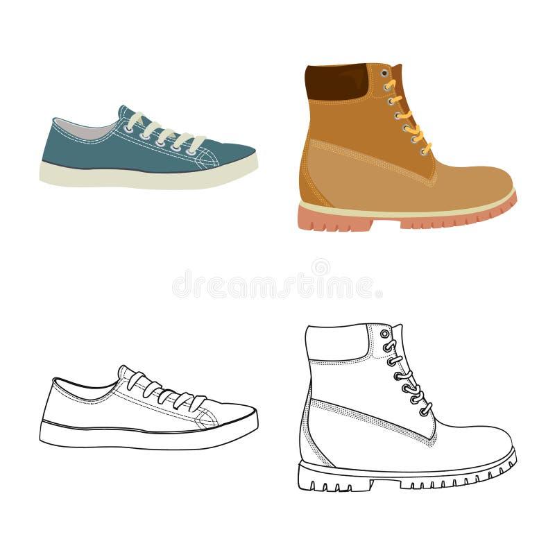 Иллюстрация вектора логотипа ботинка и обуви r бесплатная иллюстрация