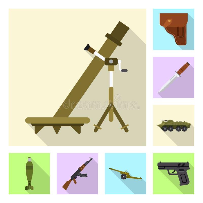 Иллюстрация вектора логотипа оружия и оружия Комплект значка вектора оружия и армии для запаса бесплатная иллюстрация