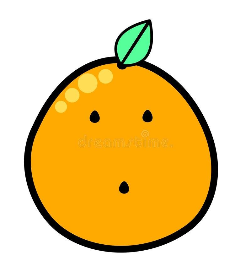 Иллюстрация вектора логотипа Kawaii оранжевая иллюстрация штока