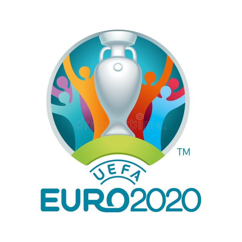 Иллюстрация 2020 вектора логотипа Uefa иллюстрация вектора