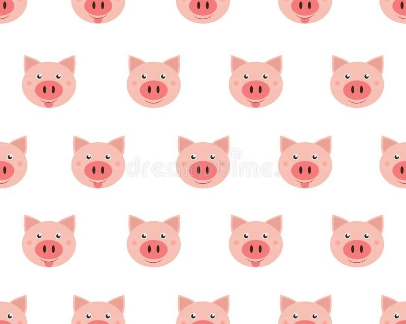 Иллюстрация вектора милых свиней стороны иллюстрация вектора