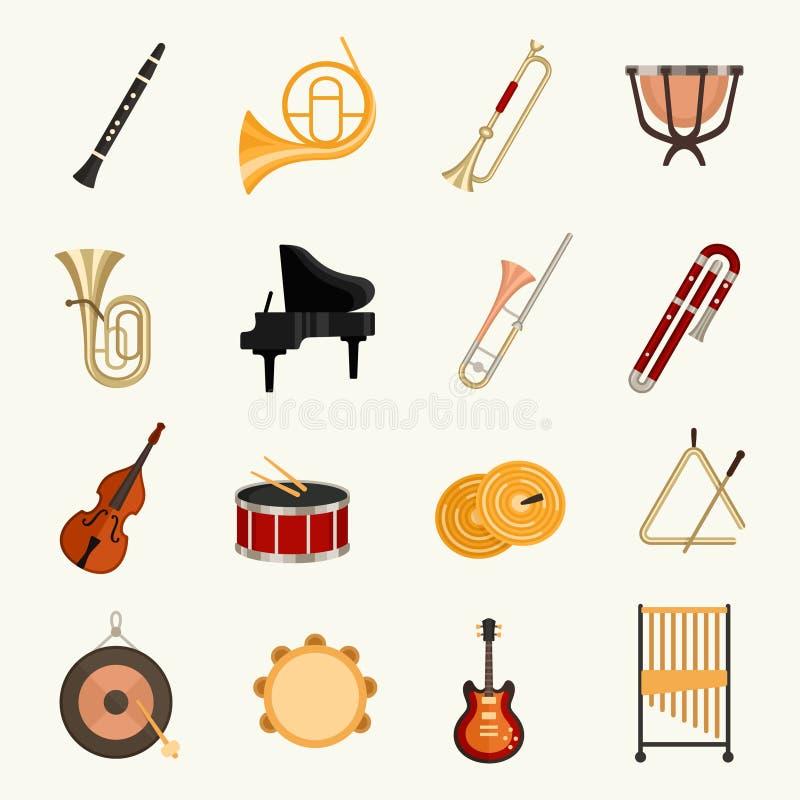 Иллюстрация вектора музыкальных инструментов оркестра бесплатная иллюстрация