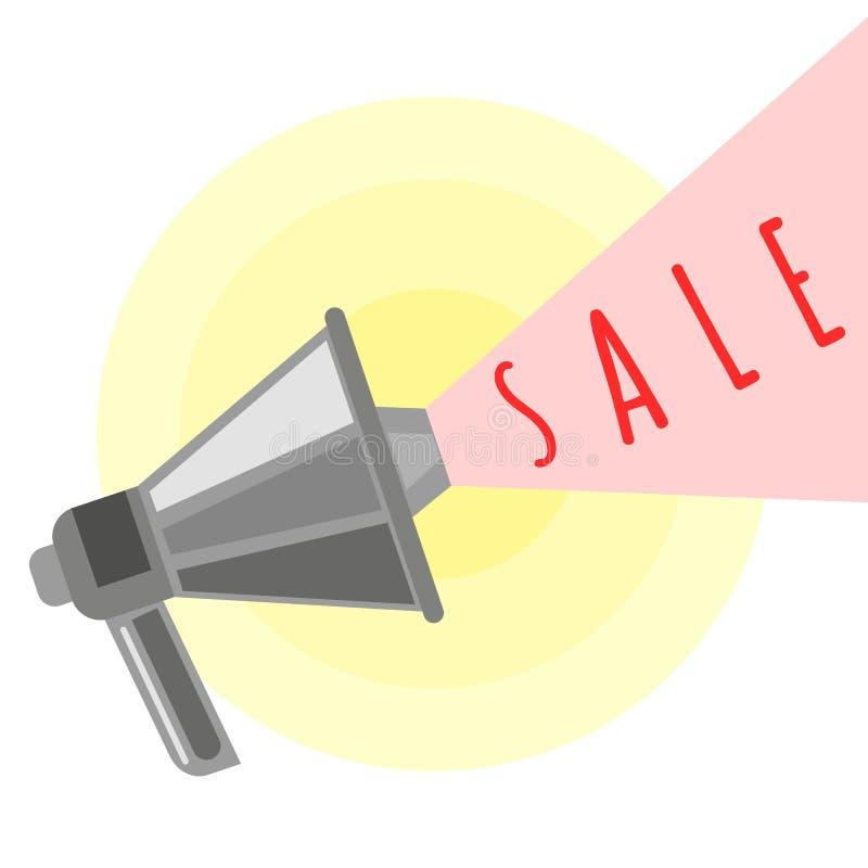 Иллюстрация вектора мультфильма объявления продажи иллюстрация штока