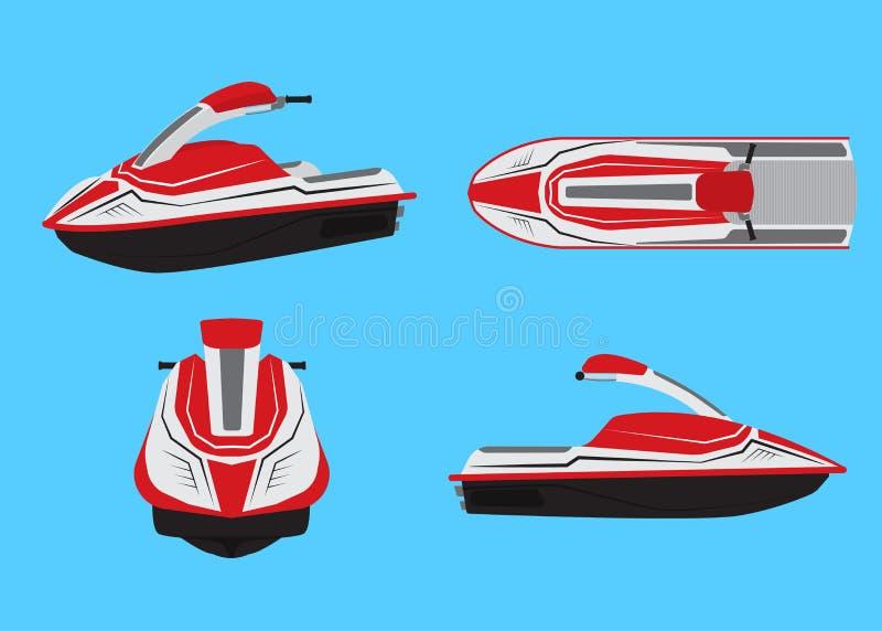 Иллюстрация вектора набора вектора водных лыж иллюстрация вектора