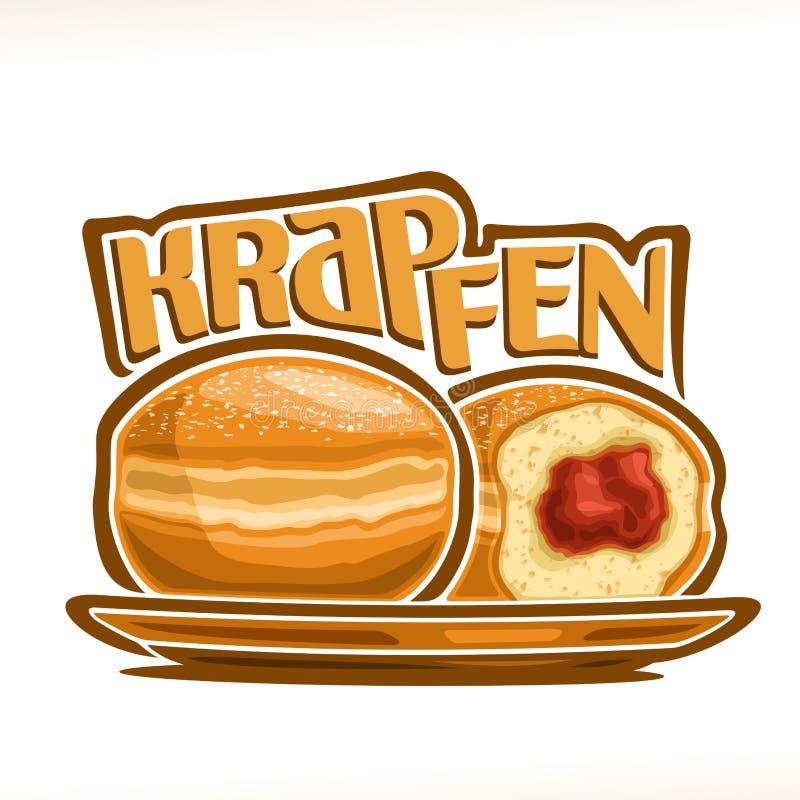 Иллюстрация вектора немца Krapfen бесплатная иллюстрация