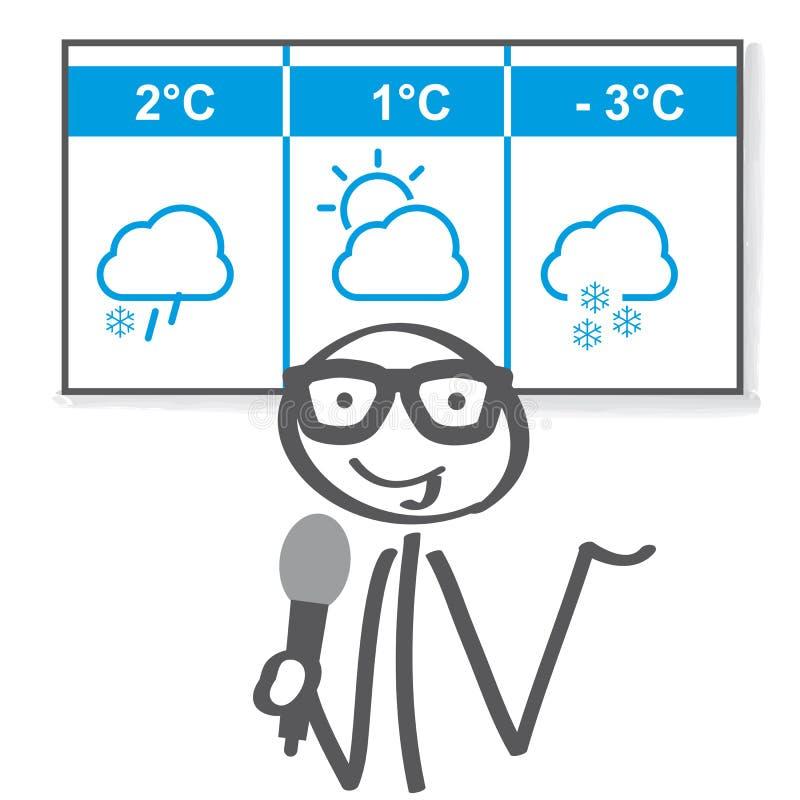 Иллюстрация вектора новостей зимы погоды иллюстрация вектора