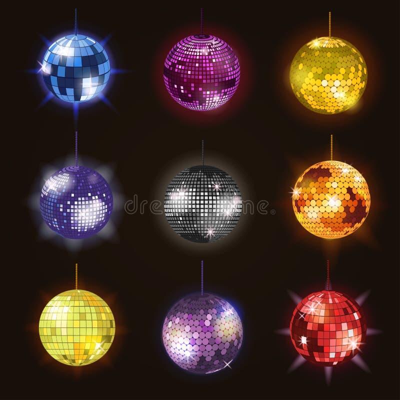 Иллюстрация вектора оборудования партии танцевальной музыки discotheque шариков диско танца ночного клуба партии иллюстрация вектора