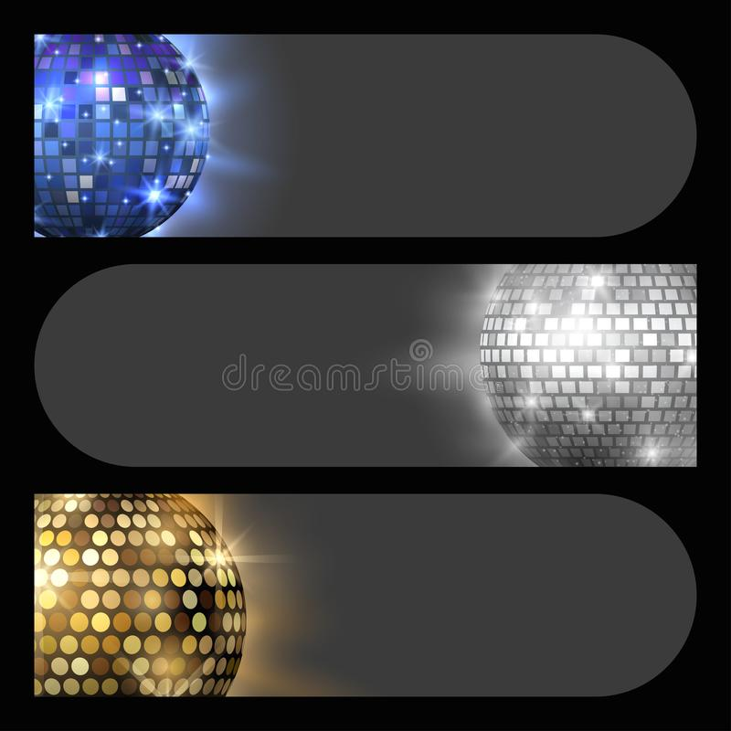 Иллюстрация вектора оборудования танца ночного клуба партии музыки карточки discotheque шарика диско иллюстрация вектора