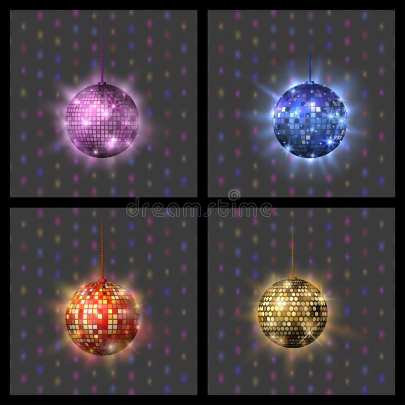 Иллюстрация вектора оборудования танца ночного клуба партии музыки discotheque шарика диско иллюстрация штока