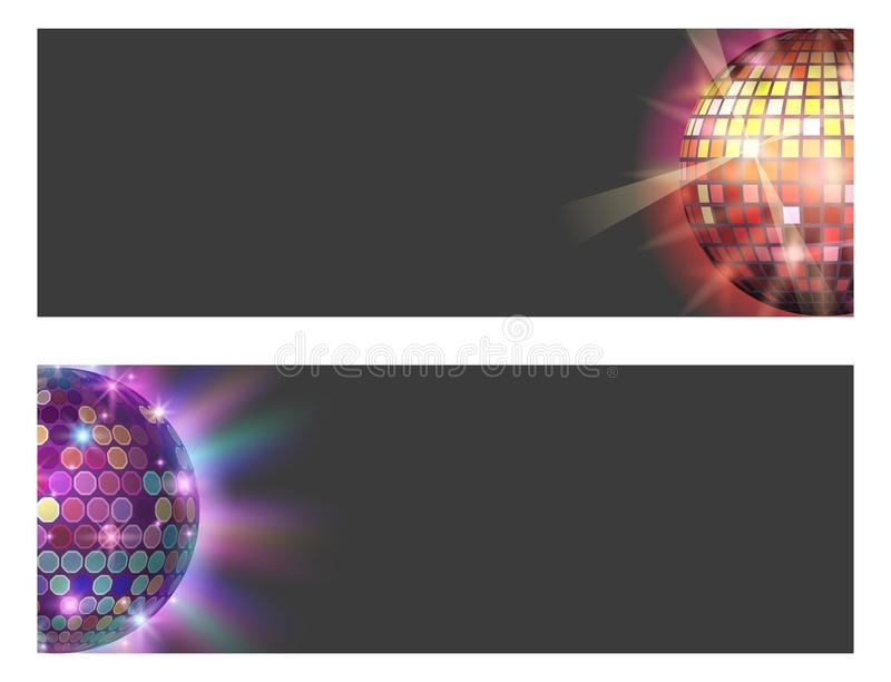 Иллюстрация вектора оборудования танца ночного клуба партии музыки карточки discotheque шарика диско бесплатная иллюстрация