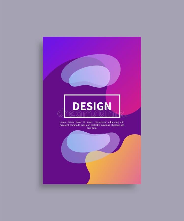 Иллюстрация вектора образца крышки и текста дизайна бесплатная иллюстрация