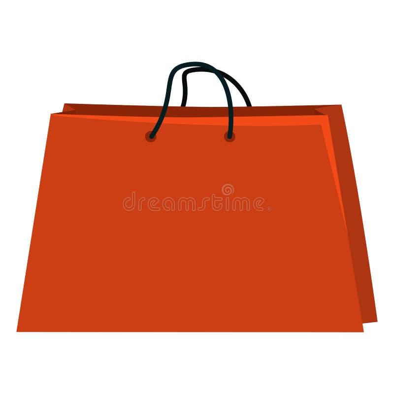 Иллюстрация вектора одиночная - хозяйственная сумка на белой предпосылке иллюстрация вектора