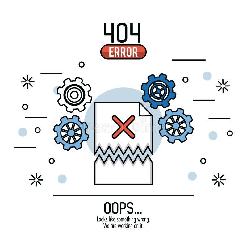 Иллюстрация вектора ошибки 404 infographic бесплатная иллюстрация