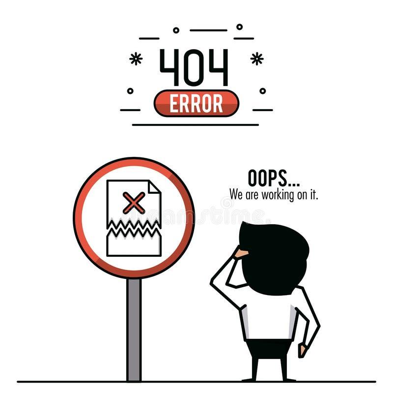 Иллюстрация вектора ошибки 404 infographic иллюстрация штока