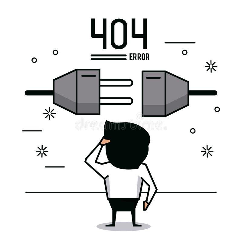 Иллюстрация вектора ошибки 404 infographic иллюстрация вектора