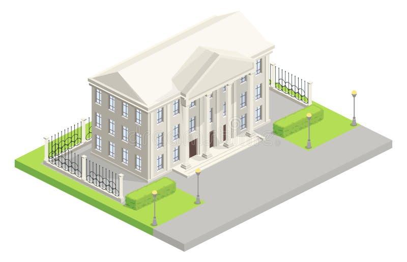 Иллюстрация вектора парламента здание муниципалитета равновеликая бесплатная иллюстрация