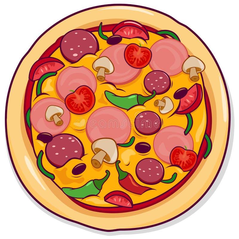 Иллюстрация вектора пиццы иллюстрация вектора