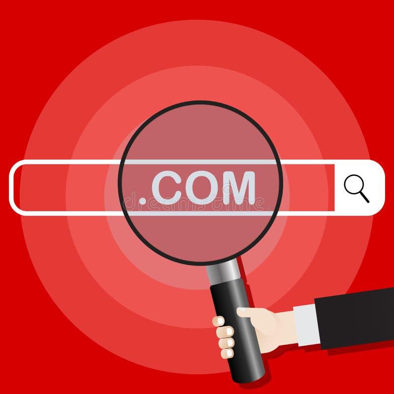Иллюстрация вектора поисковой системы Рука держит увеличитель сразу к поисковой системе com r иллюстрация вектора