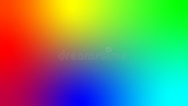 Иллюстрация вектора показывая все цвета радуги и остаток их возможных вариантов   Ровное бесплатная иллюстрация