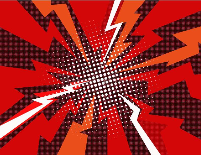 Иллюстрация вектора предпосылки луча взрыва комика иллюстрация вектора