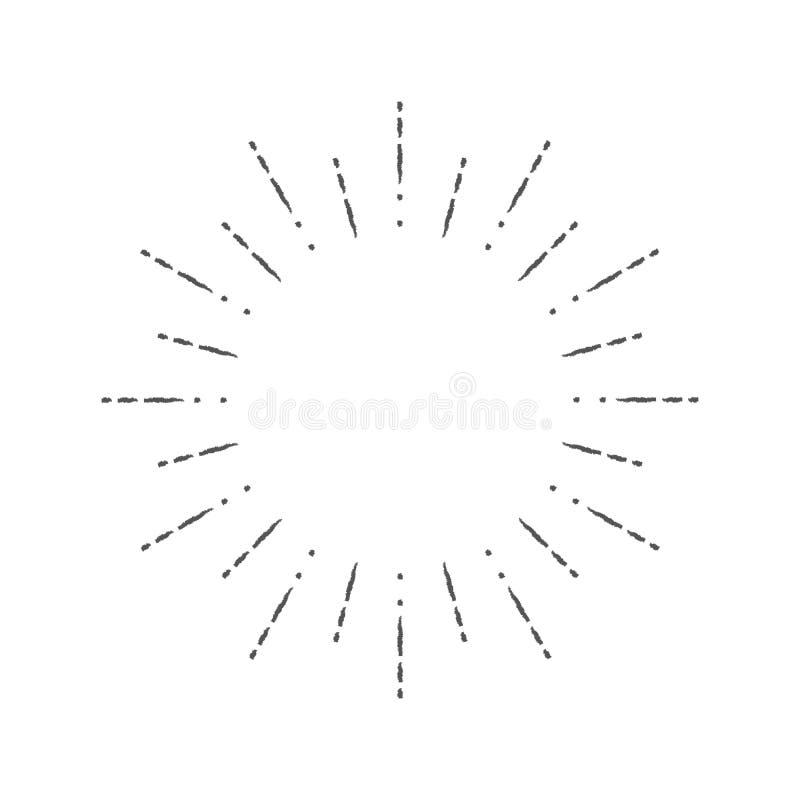 Иллюстрация вектора предпосылки grunge лучей иллюстрация штока