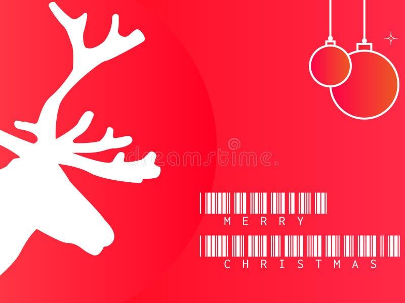 Иллюстрация вектора приветствий ` ` с Рождеством Христовым стоковые фото