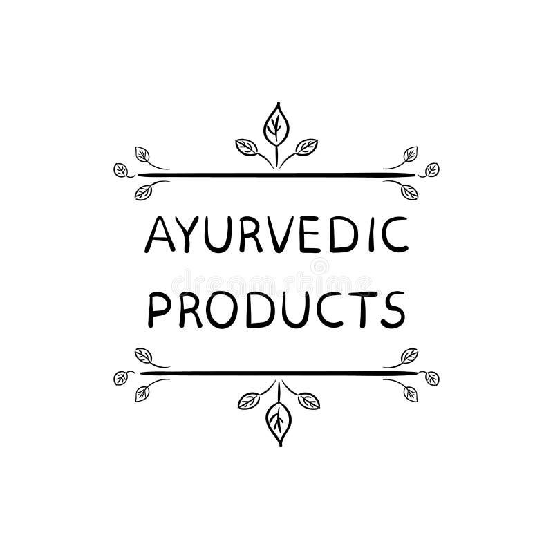 Иллюстрация ВЕКТОРА продуктов Ayurvedic изолированная на белой предпосылке иллюстрация вектора