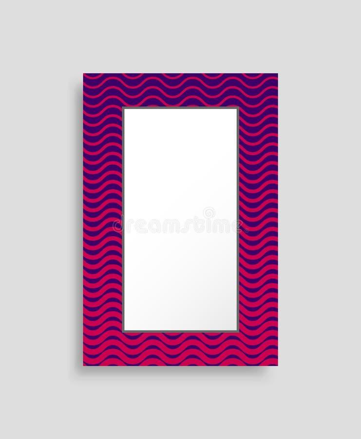 Иллюстрация вектора прямоугольной рамки красочная бесплатная иллюстрация