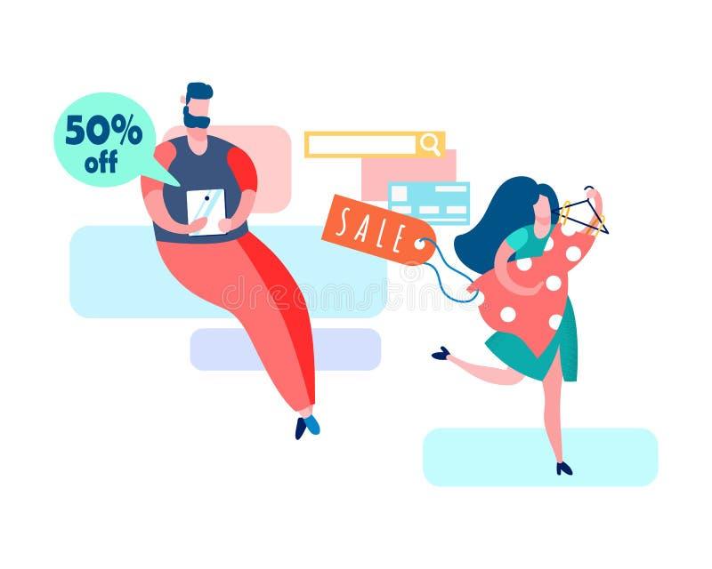 Иллюстрация вектора распродажи магазина интернета иллюстрация штока