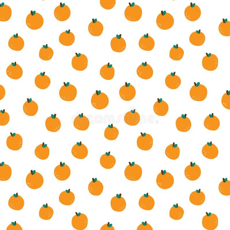 Иллюстрация вектора руки вычерченная оранжевой картины стоковое фото