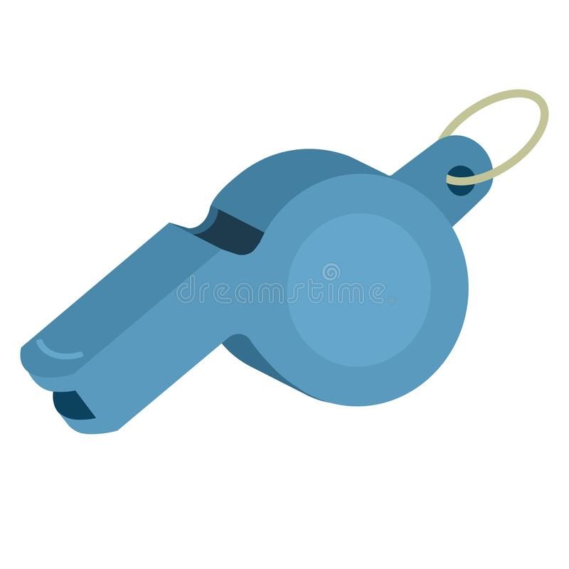 Иллюстрация вектора свистка рефери изолировала Значок для фитнеса, здоровый, разминка спорта вектор иллюстрация вектора