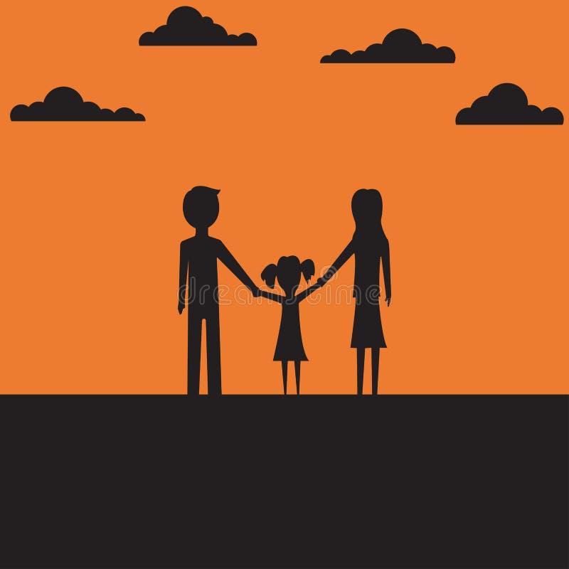 Иллюстрация вектора семьи концепции плоско бесплатная иллюстрация