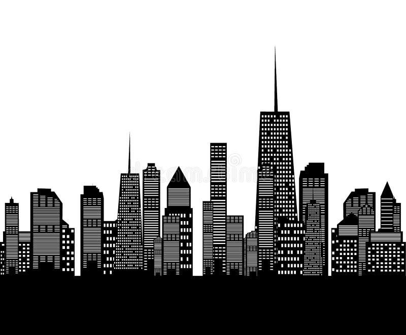 Иллюстрация вектора силуэта городов бесплатная иллюстрация