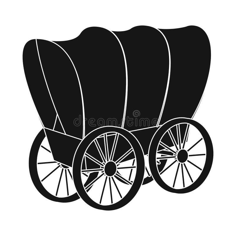 Иллюстрация вектора символа дилижанса и фуры Собрание дилижанса и значок вектора езды для запаса бесплатная иллюстрация
