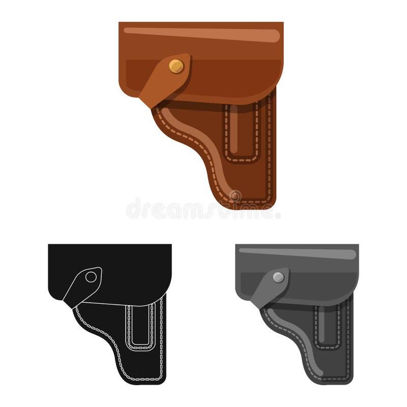 Иллюстрация вектора символа оружия и оружия Собрание сокращенного названия выпуска акций оружия и армии для сети иллюстрация штока