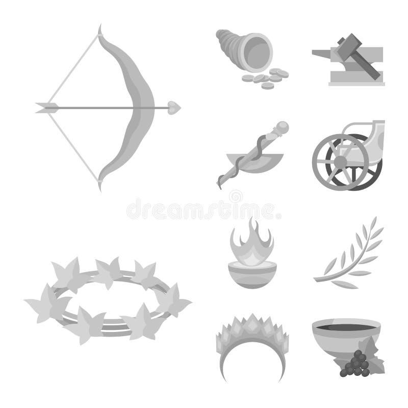 Иллюстрация вектора символа старого и культуры Собрание старого и античного сокращенного названия выпуска акций для сети бесплатная иллюстрация