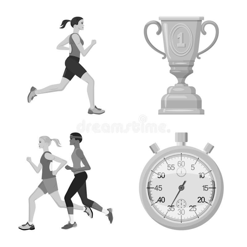 Иллюстрация вектора символа успеха и марафона Собрание успеха и иллюстрации вектора запаса победителя иллюстрация вектора