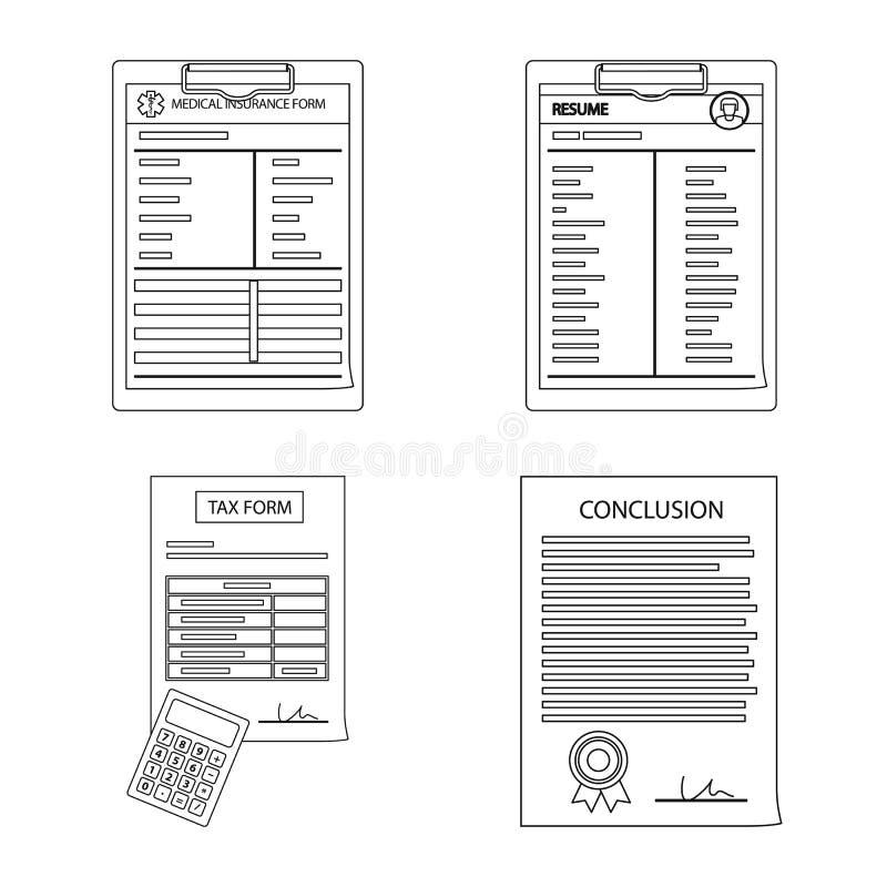 Иллюстрация вектора символа формы и документа Собрание сокращенного названия выпуска акций формы и метки для сети иллюстрация штока