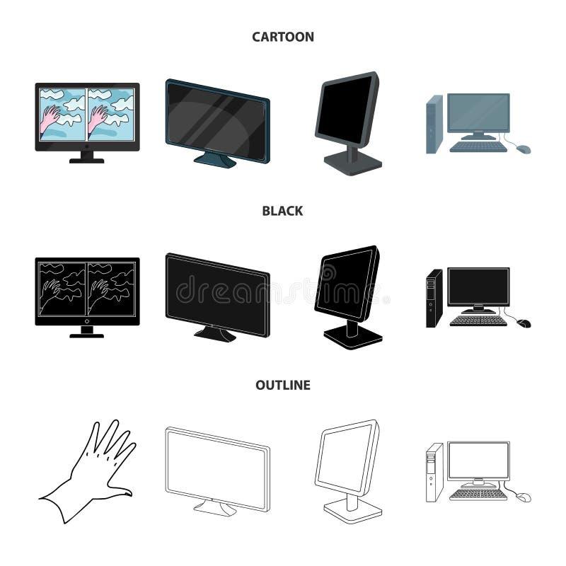 Иллюстрация вектора символа экрана и компьютера Собрание иллюстрации вектора запаса экрана и модель-макета иллюстрация штока