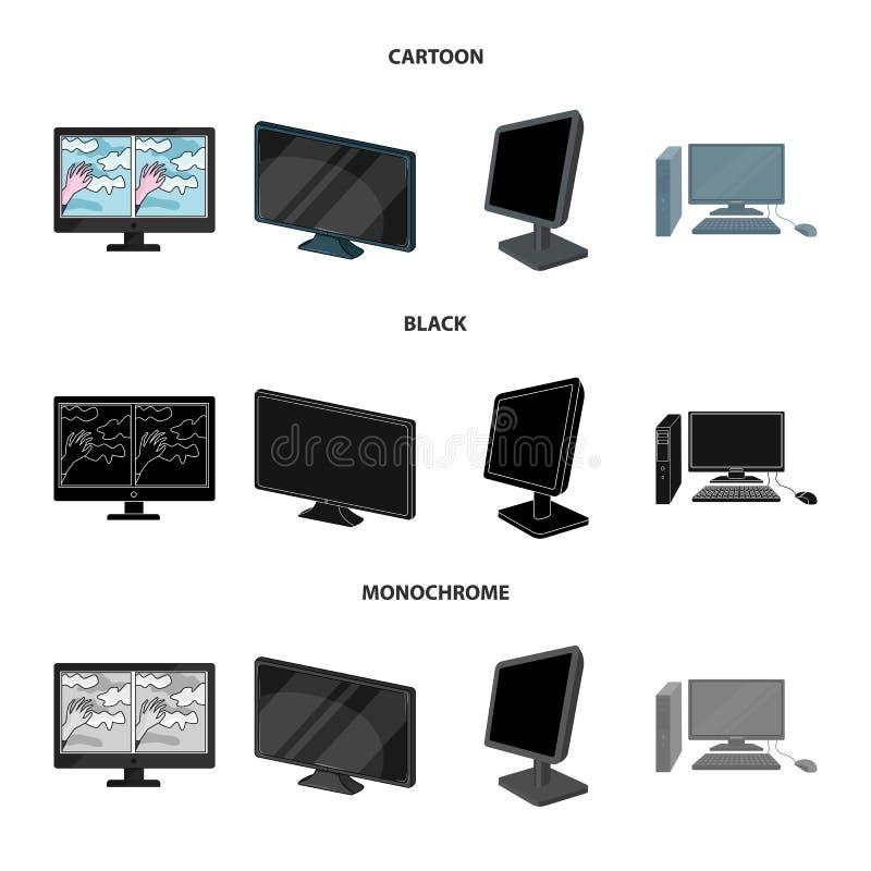 Иллюстрация вектора символа экрана и компьютера Собрание сокращенного названия выпуска акций экрана и модель-макета для сети иллюстрация вектора