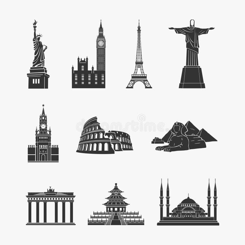 Иллюстрация вектора символов ориентир ориентиров бесплатная иллюстрация