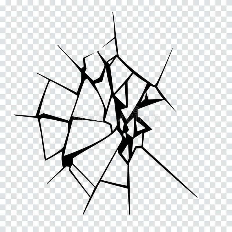 Иллюстрация вектора сломленной поверхности Силуэт отказа иллюстрация вектора