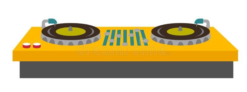 Иллюстрация вектора смесителя консоли turntable DJ бесплатная иллюстрация
