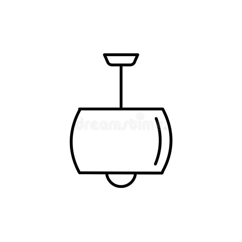Иллюстрация вектора современной потолочной лампы Линия значок бочонка иллюстрация вектора